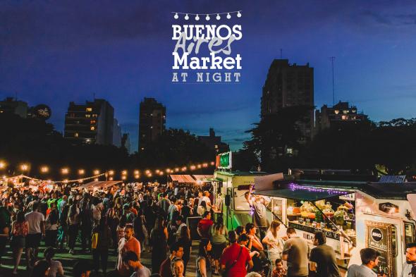 Buenos Aires Market at night, 12 y 13 de enero en Parque Chacabuco.