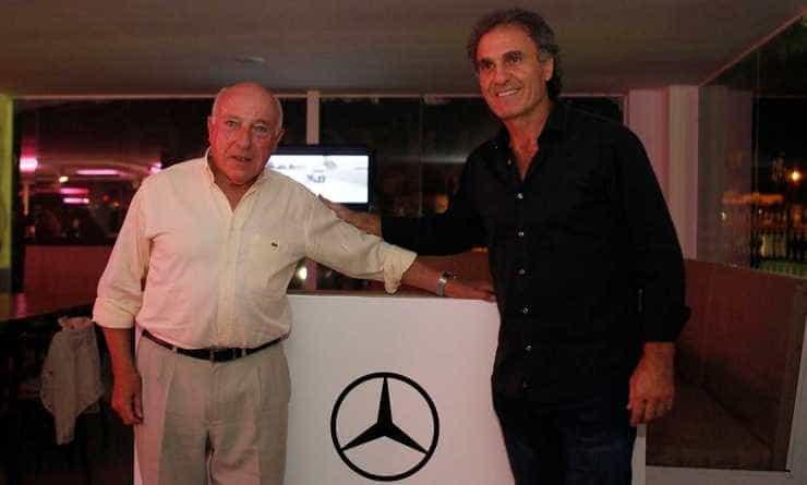 Oscar Fangio junto a Oscar Ruggeri