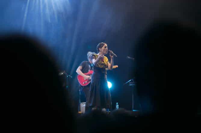 Natalia Lafourcade en el Gran Rex.