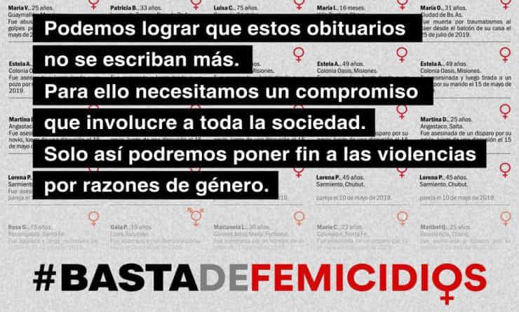 #BastadeFemicidios